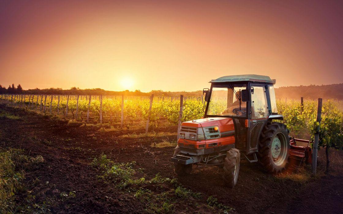 agricola tractor labrando vehiculo trabajo wallpaper