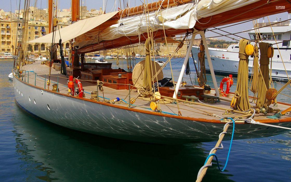 barco vela aparejos navegar wallpaper