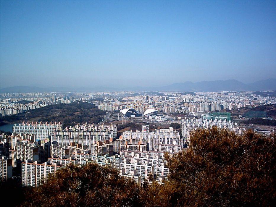 Gwangju ciudad corea sur asia wallpaper