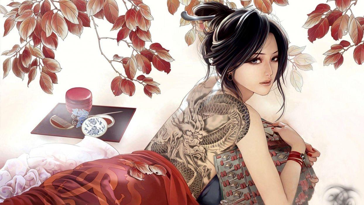 Anime Girl Tattoo