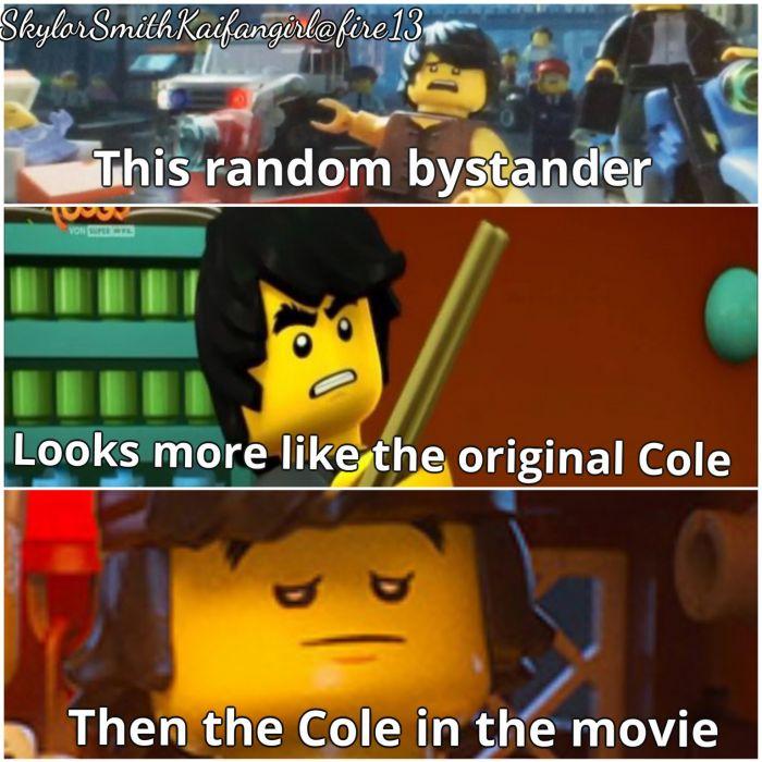 Funny Cole Lego Ninjago Movie Humor Sadic Ass Wallpaper