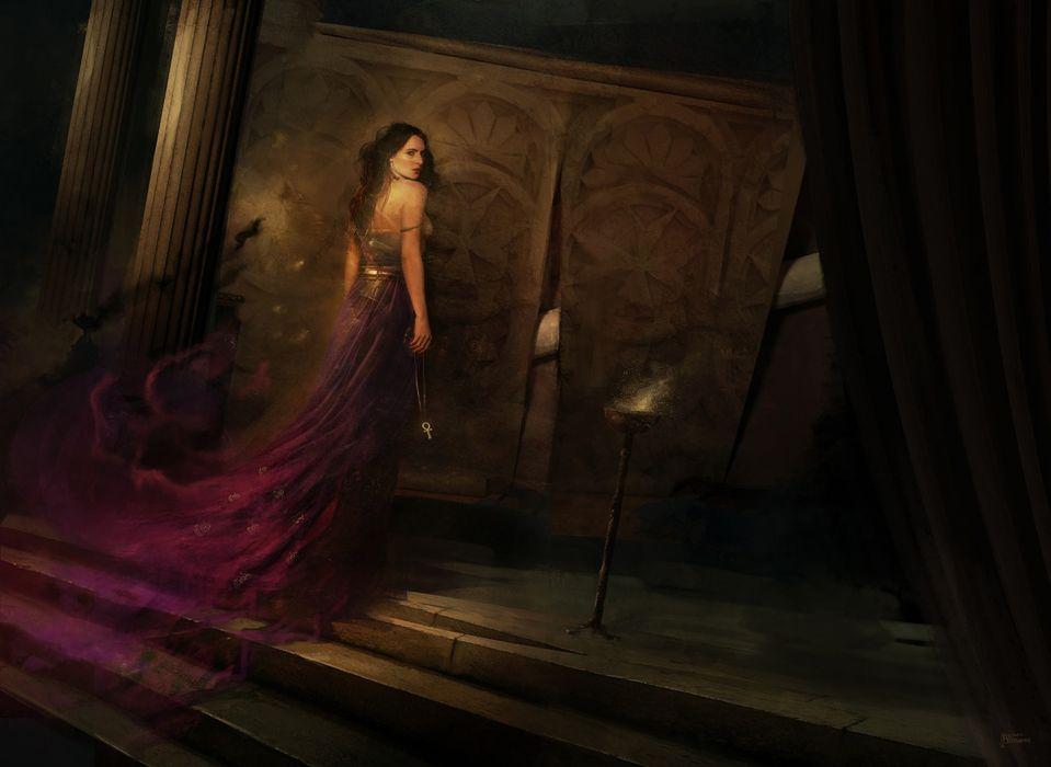 dress The Fantasy Art of Bastien Lecouffe Deharme woman beauty long hair wallpaper