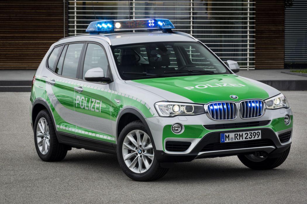 BMW X3 xDrive20d Landespolizei FuStW 2014 wallpaper