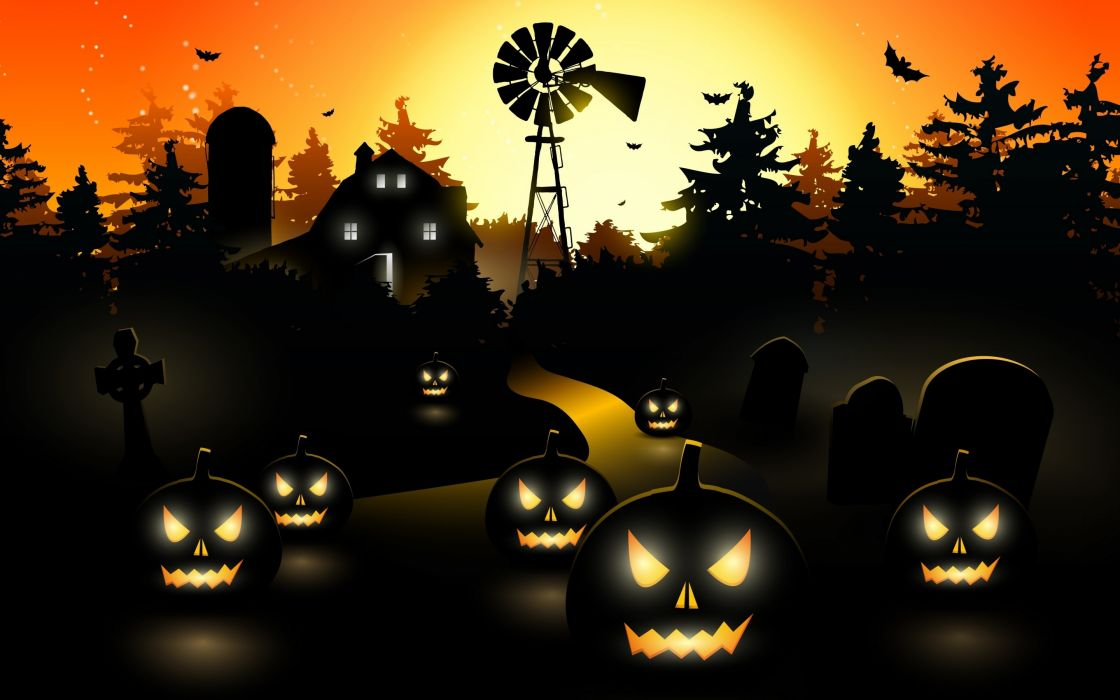 Halloween holiday spooky wallpaper | 2880x1800 | 1101858 | WallpaperUP