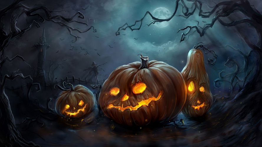 halloween holiday spooky wallpaper