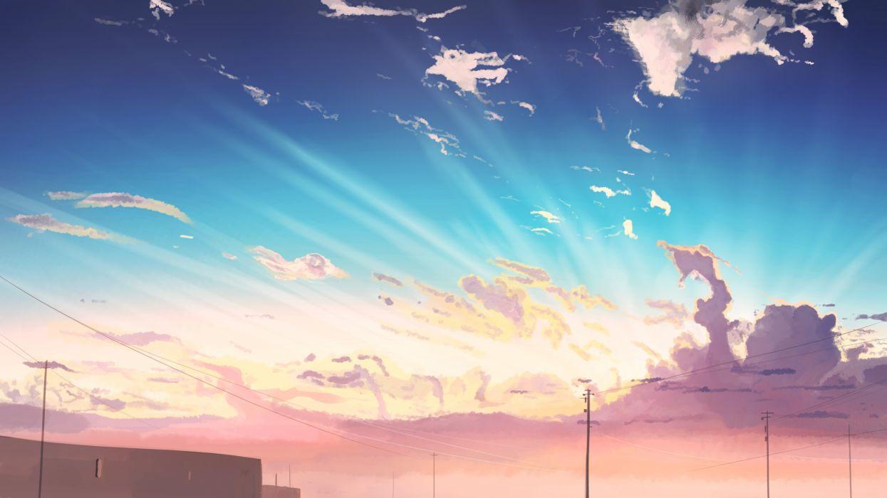 Konachan com - 251499 building clouds landscape original scenic sky sunset tagme (artist) wallpaper