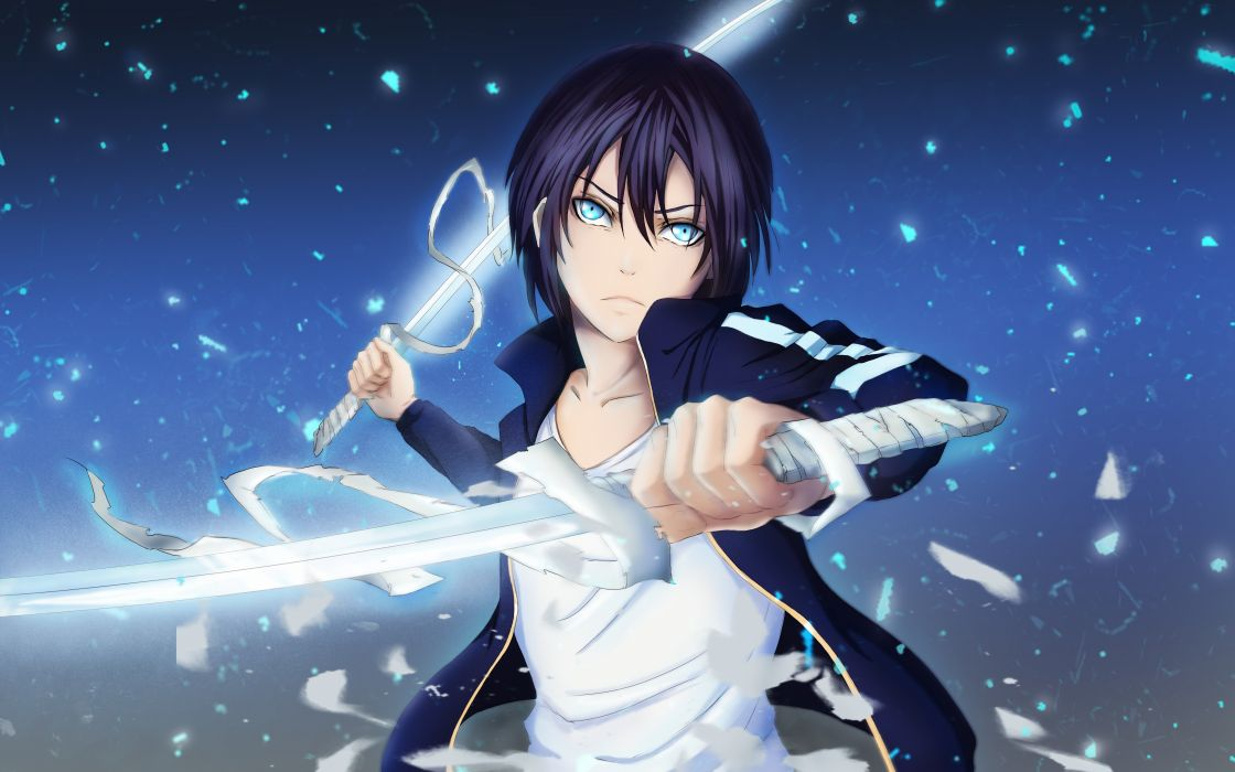 Konachan com - 250816 all male blue eyes male noragami short hair yato (noragami) wallpaper