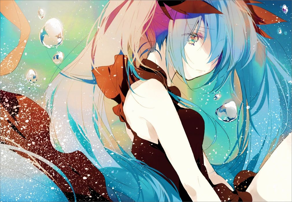 Konachan com - 249649 deep-sea girl (vocaloid) hatsune miku long hair sarai (moyashi830) twintails vocaloid wallpaper