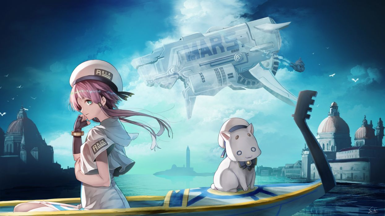 Konachan Com 249664 Animal Aria Aria Pokoteng Boat Cat Elbow