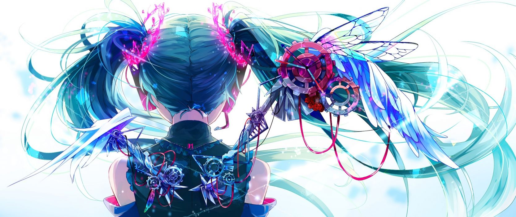 Konachan com - 247351 aliasing hatsune miku hoshino kisora long hair twintails vocaloid wallpaper