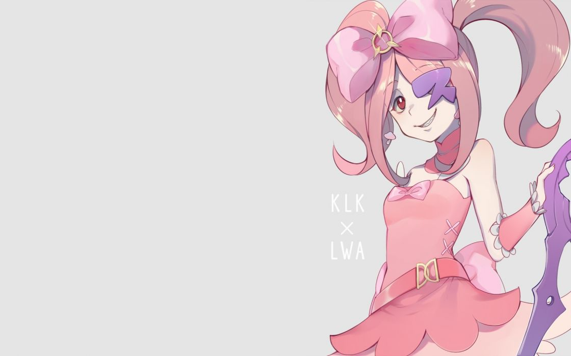 Konachan com - 246907 bow cosplay ekira nieto gray kill la kill little witch academia long hair pink hair red eyes sucy manbavaran wristwear wallpaper