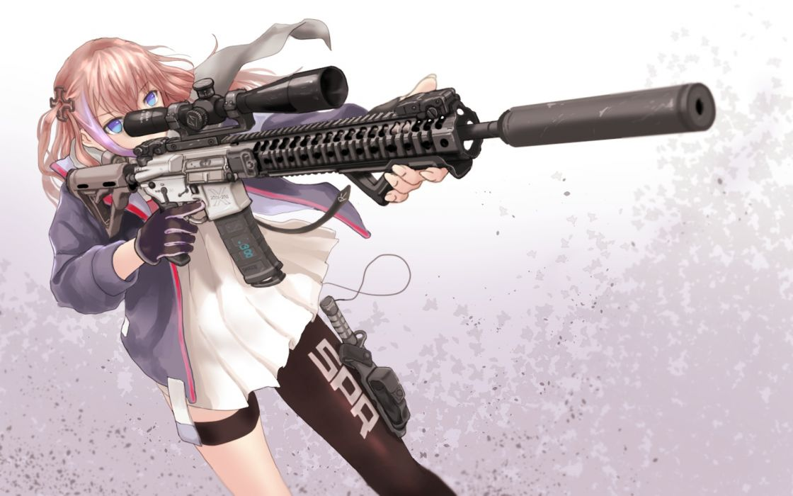 Konachan com - 246909 anthropomorphism ar-15 (girls frontline) girls frontline gloves gun specterz weapon wallpaper