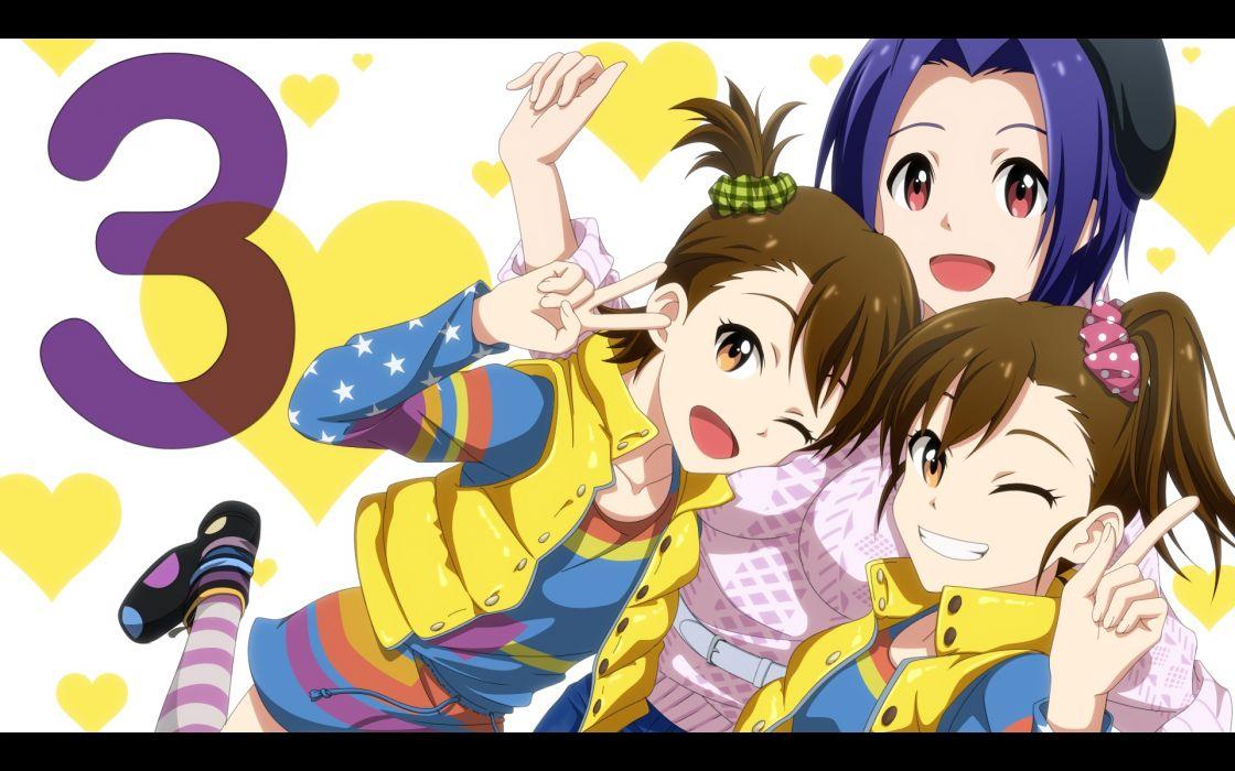 Konachan com - 244780 futami ami futami mami idolmaster kouchou (artist) miura azusa twins wallpaper