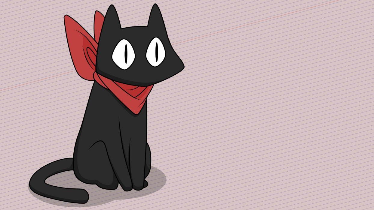 Konachan com - 244806 animal cat nichijou nobody sakamoto (nichijou) vector wallpaper