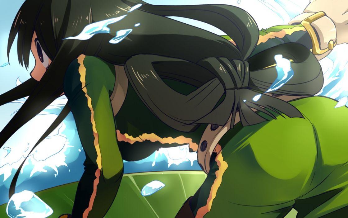 Konachan com - 244076 ass asui tsuyu black hair boku no hero academia long hair otton wallpaper
