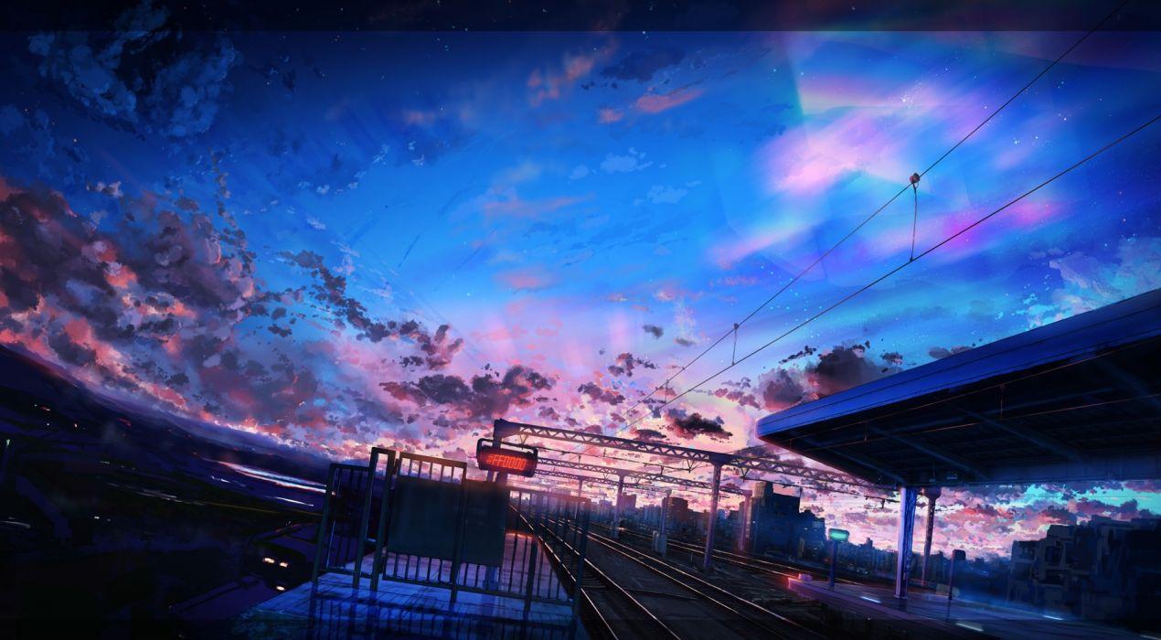 Konachan com - 243183 building city clouds dark knyt nobody original scenic sky train wallpaper