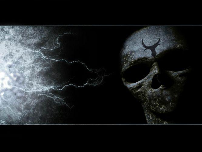 dark horror evil spooky creepy fantasy wallpaper