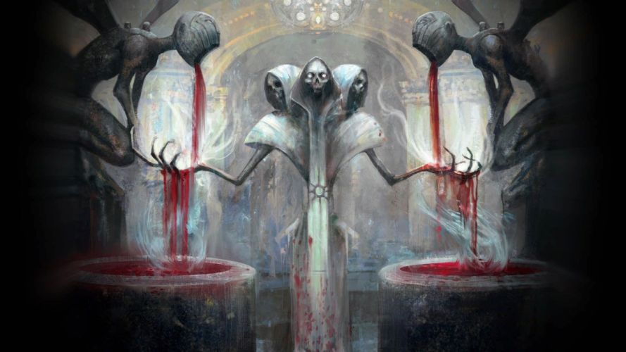 dark horror evil spooky creepy fantasy wallpaper