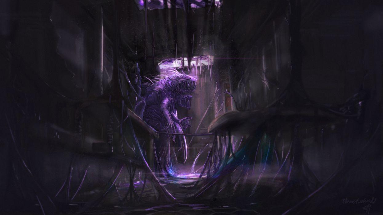 Dark Horror Evil Spooky Creepy Fantasy Wallpaper 3200x1800