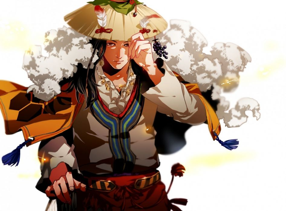 Anime illustrations cartoon hat samurai gloria man martial arts otani wallpaper