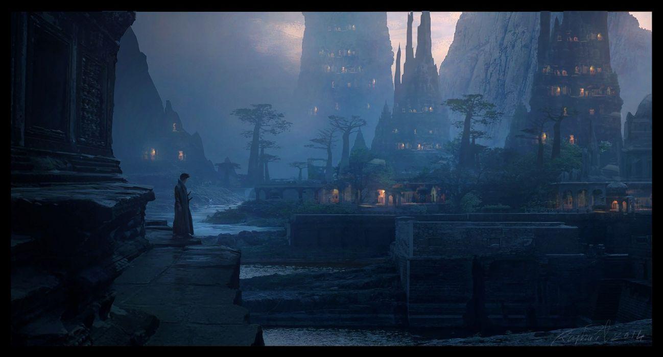 Fantasy Art Tag Fantasy City Samurai Midnight Ghost Ship