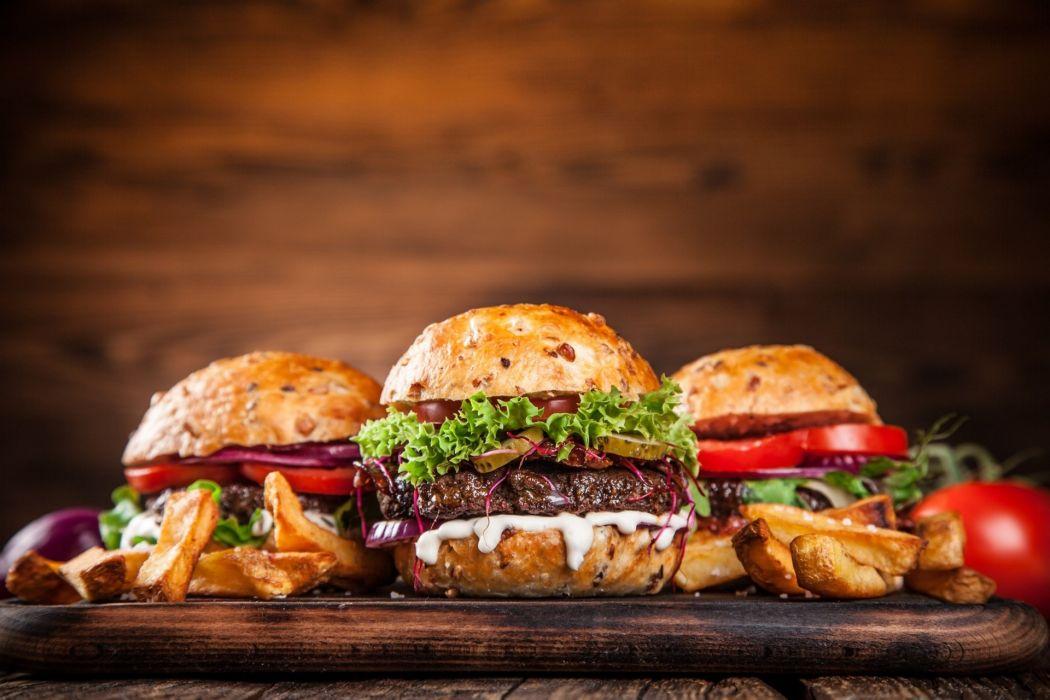 Burger Hamburger Food Meat Meal Wallpaper