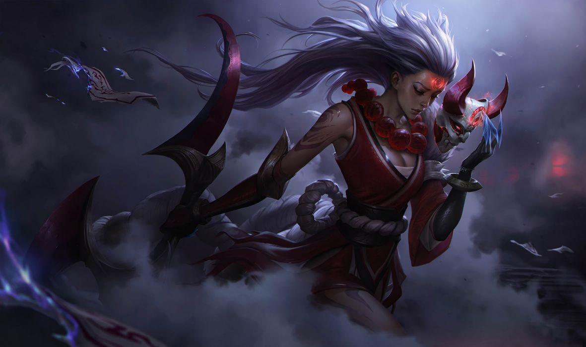 League Legends Fantasy Warrior Lol Wallpaper