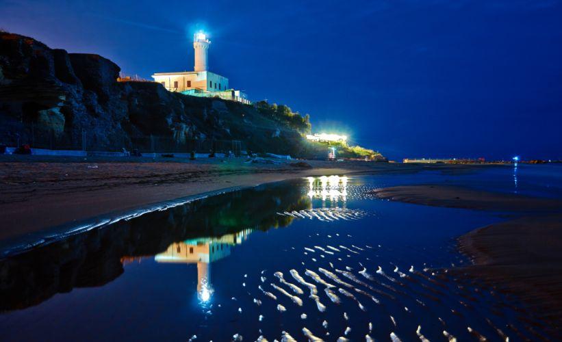 Lighthouse light sea ocean building nature seascape wallpaper