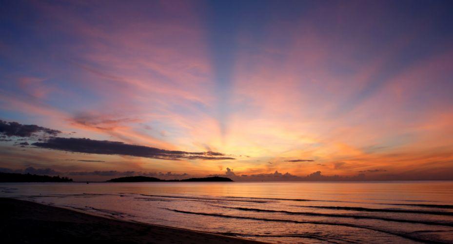 sunset sunrise sun sky nature color colorful horizon wallpaper