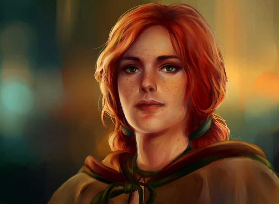 The Witcher Triss Merigold Redhead Girl Face Games Girls