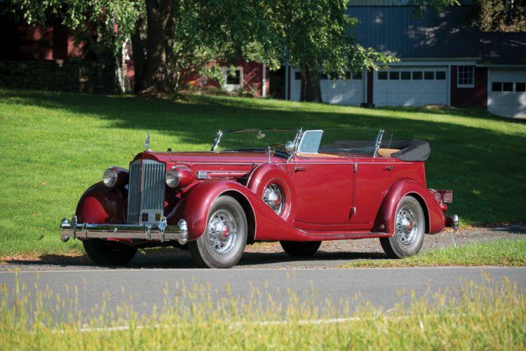 1935 Packard Twelve Dual Cowl Sport Phaeton 1207-821 vintage auto automobile vehicle car luxury retro wallpaper