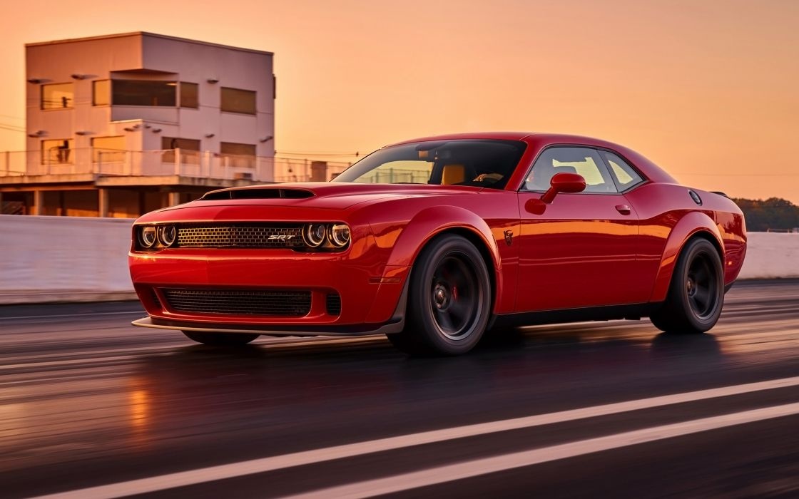 2018 Dodge Challenger SRT Demon muscle car auto automobile vehicle hot rod hotrod streetrod mopar dcsrtdemon wallpaper