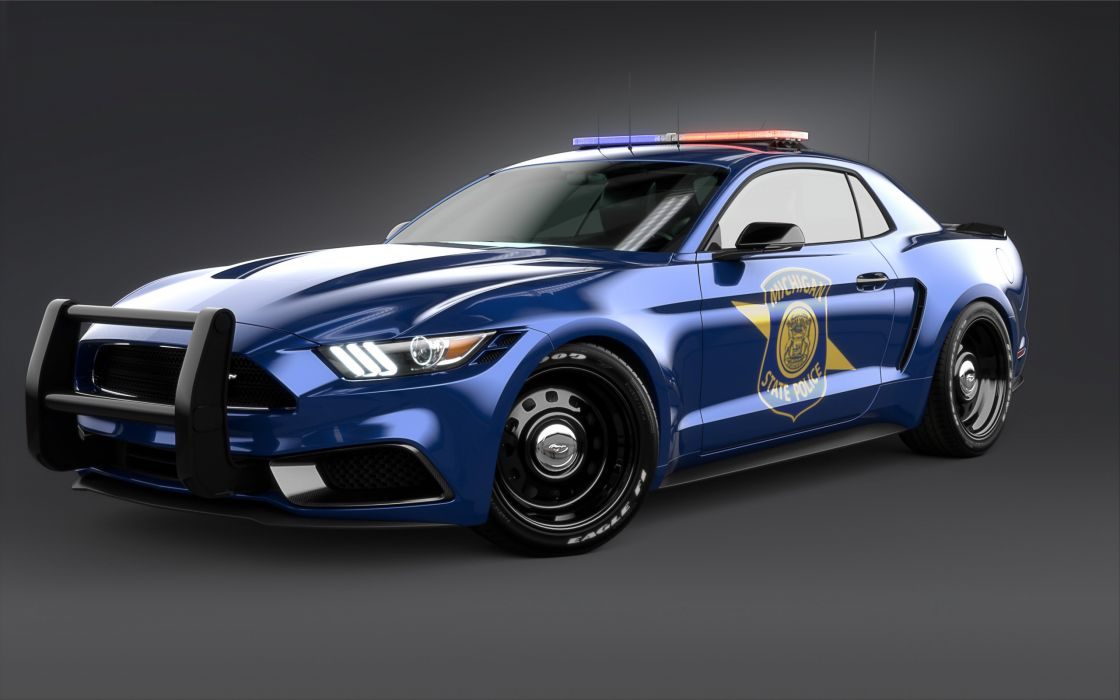 2017 Ford Mustang NotchBack Design by Chris Cyrulewski muscle vehicle auto automobile car emergency police wallpaper