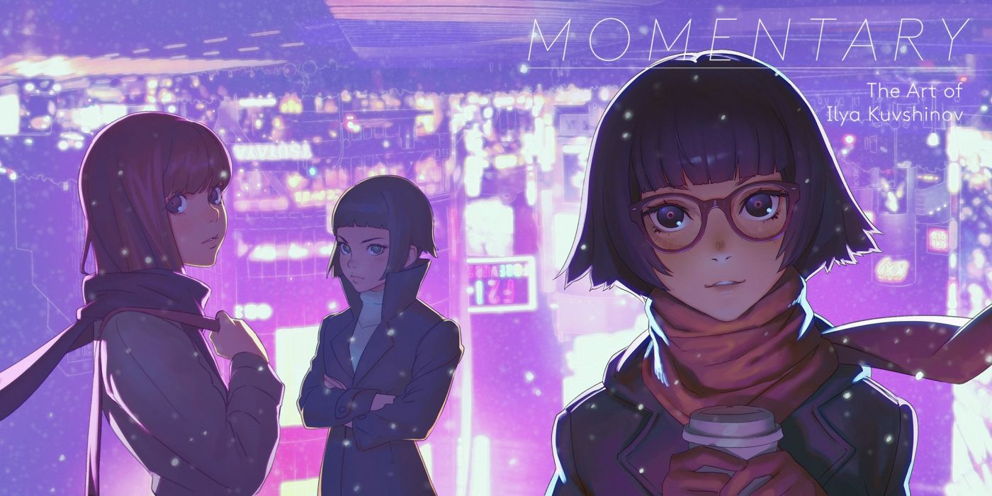 Konachan com - 240735 drink glasses ilya kuvshinov original scarf short hair snow tagme wallpaper