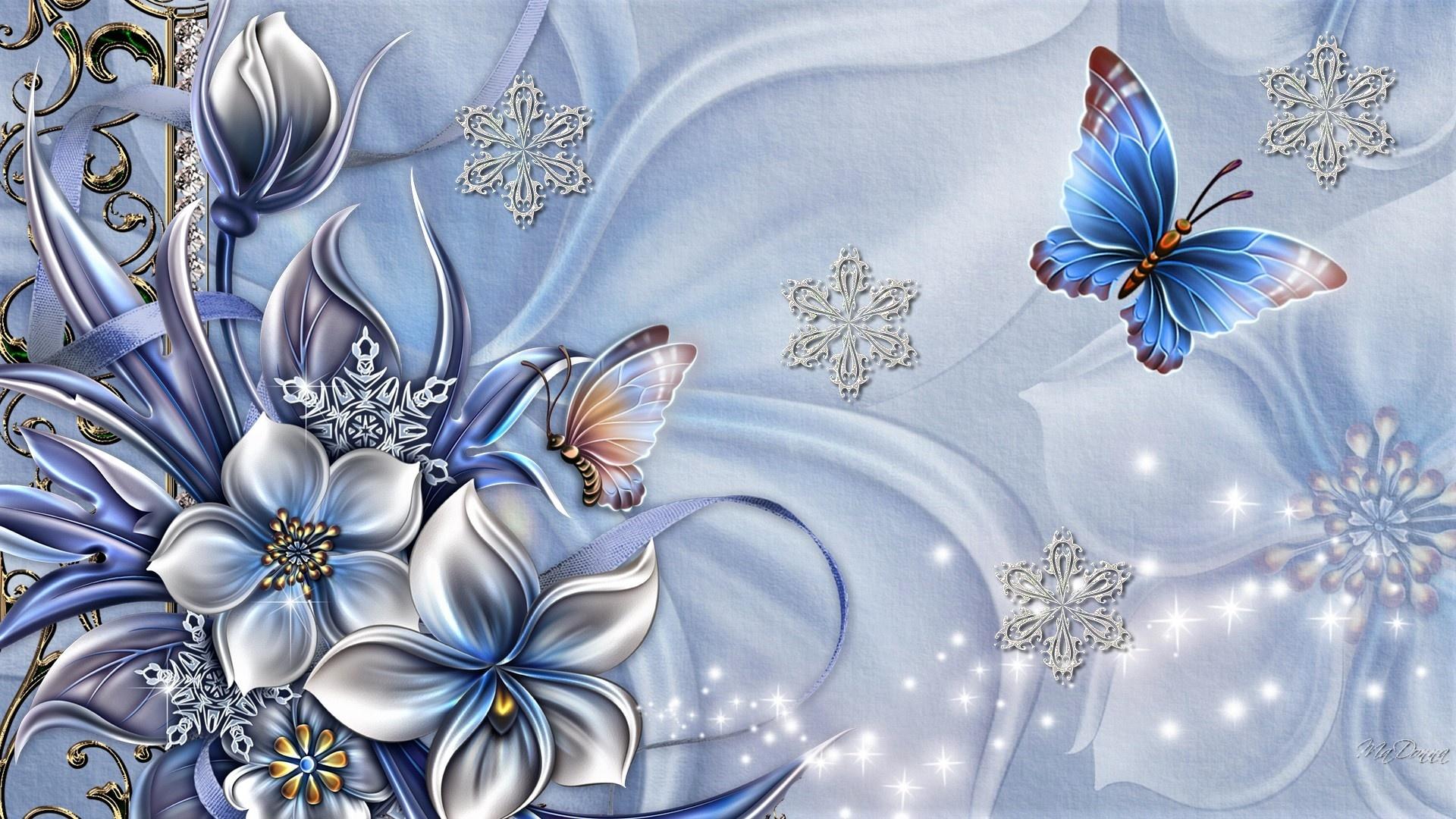 Картинка, открытка с днем рождения 3д цветы