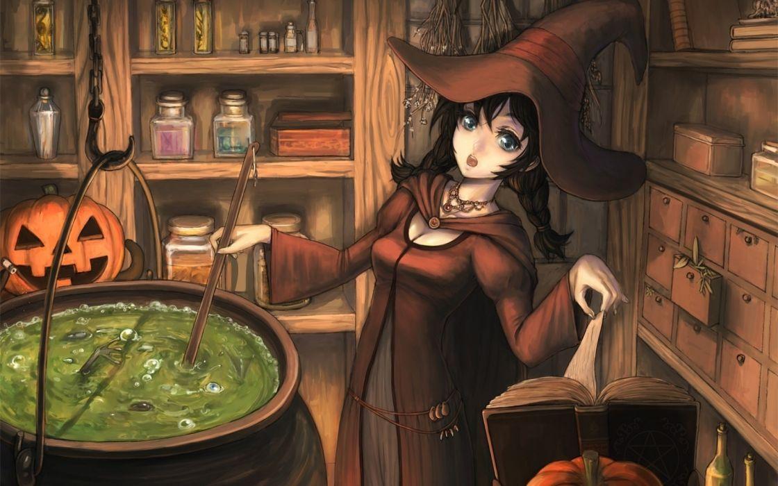 halloween bruja anime wallpaper