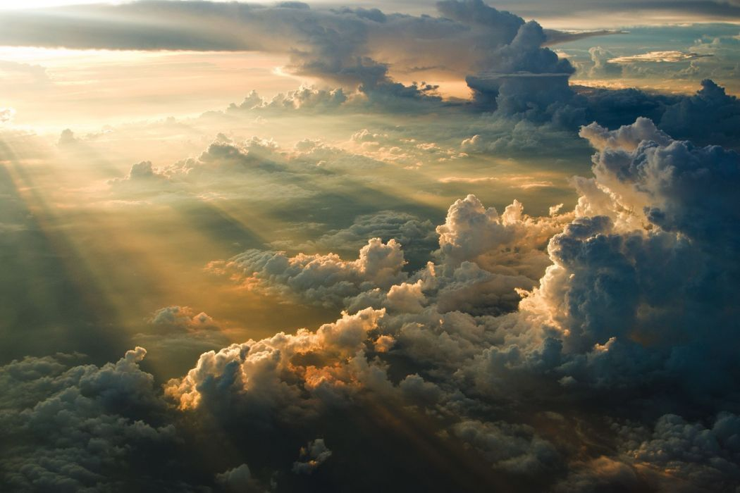 Nature Clouds Aerial View wallpaper