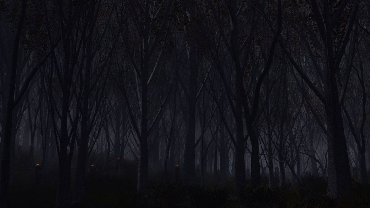 Forest Dark wallpaper