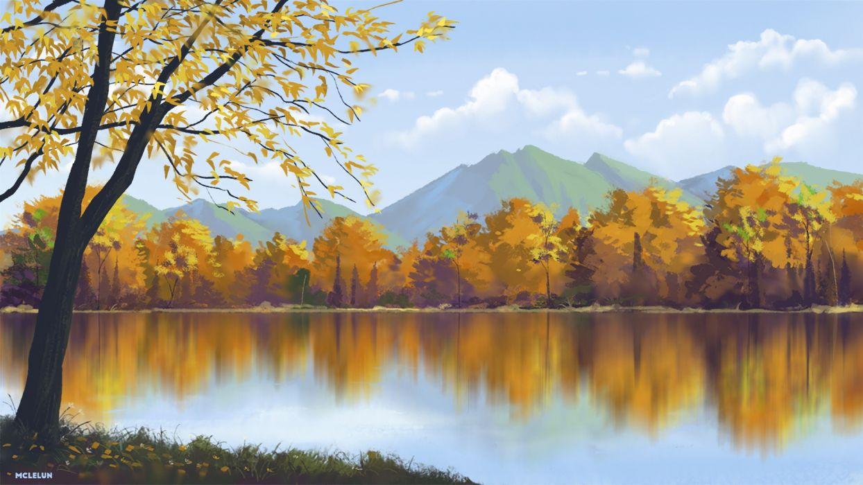 Anime Lake wallpaper