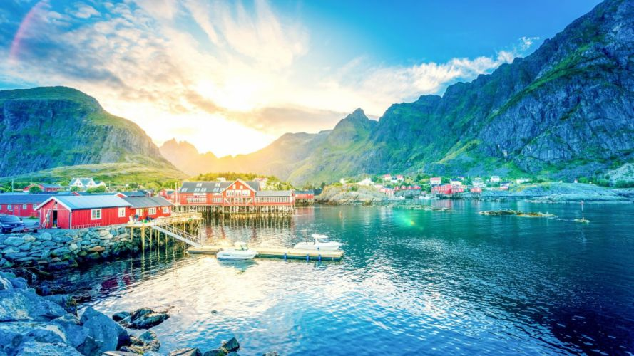 Lofoten Norway Lake wallpaper