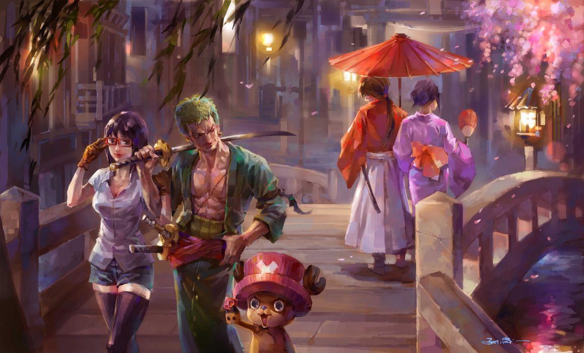 One Piece Painting anime series zoro wallpaper