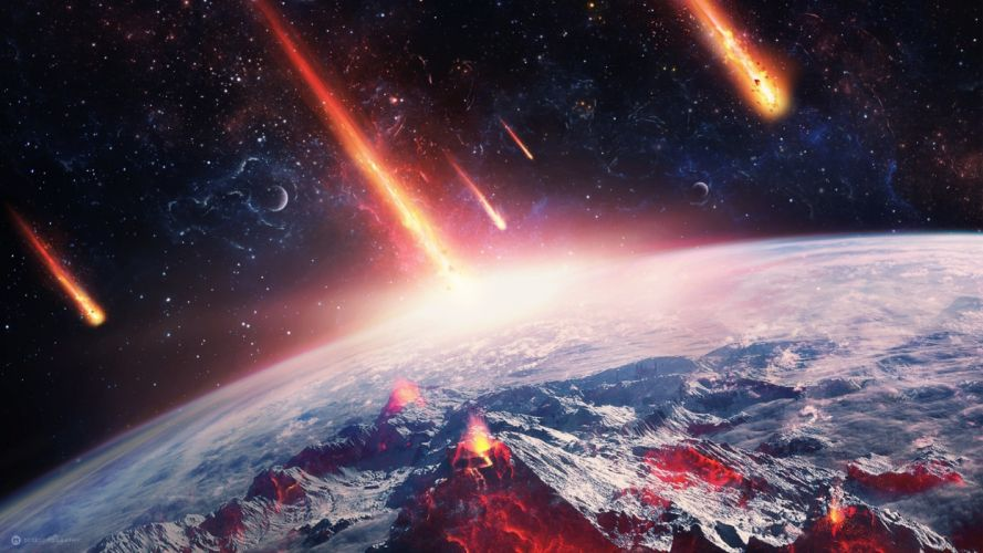 Earth Meteors wallpaper