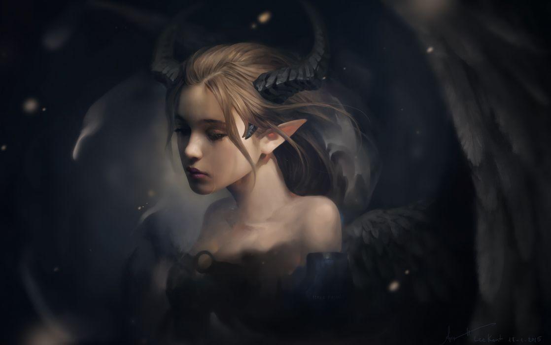 Fantasy Girls Sorrows of a Demon wallpaper