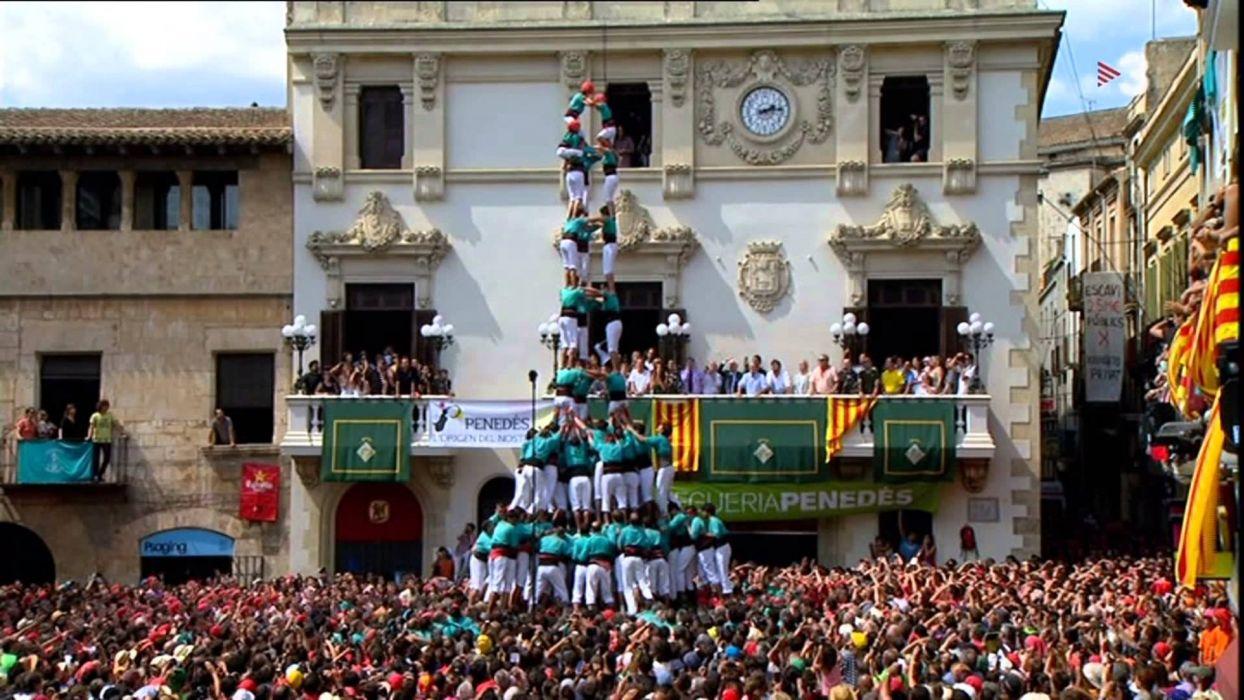 casteller fiesta popular cataluy wallpaper