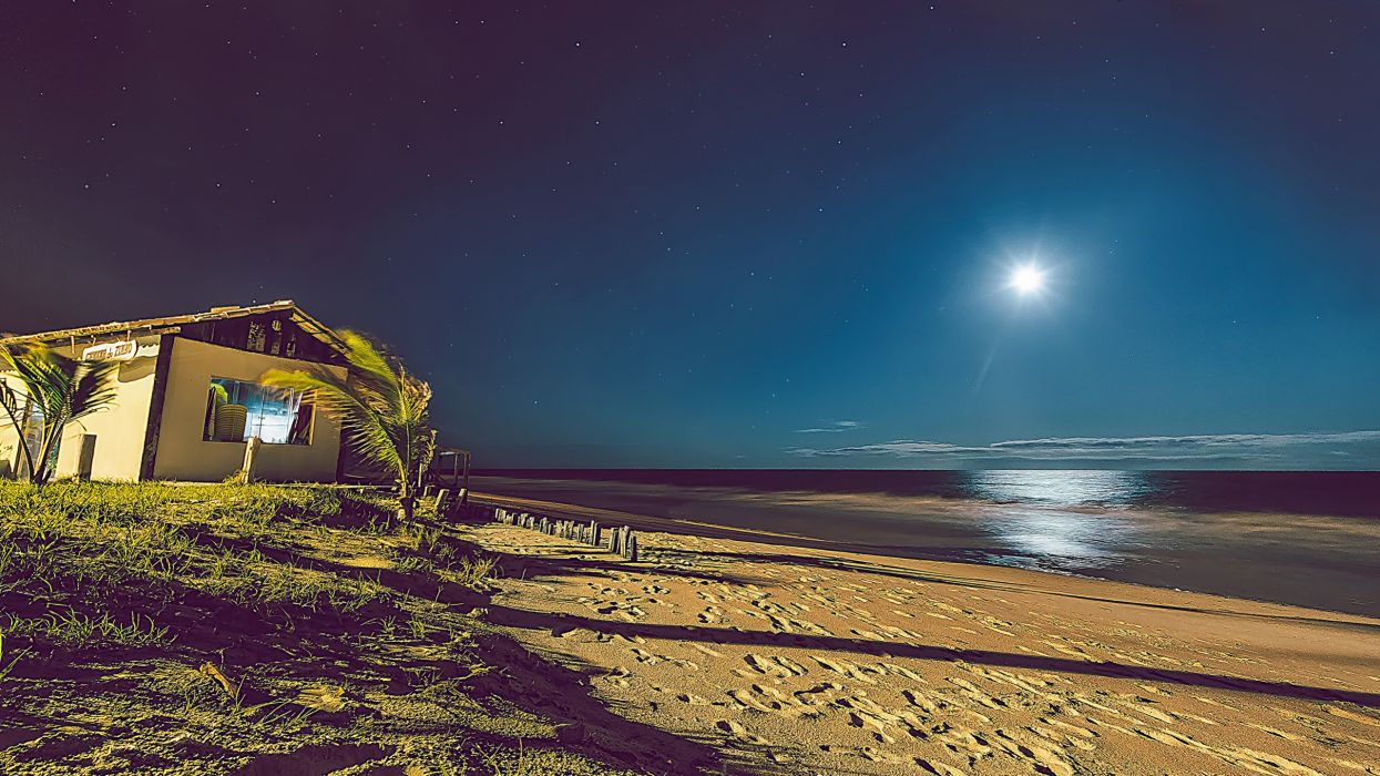 playa noche cabay wallpaper