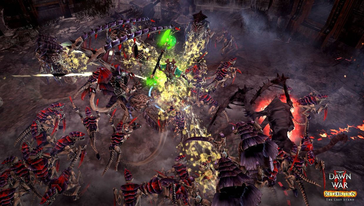 warhammer 40k fantasy fighting action warrior sci-fi futuristic fiction space marines wallpaper