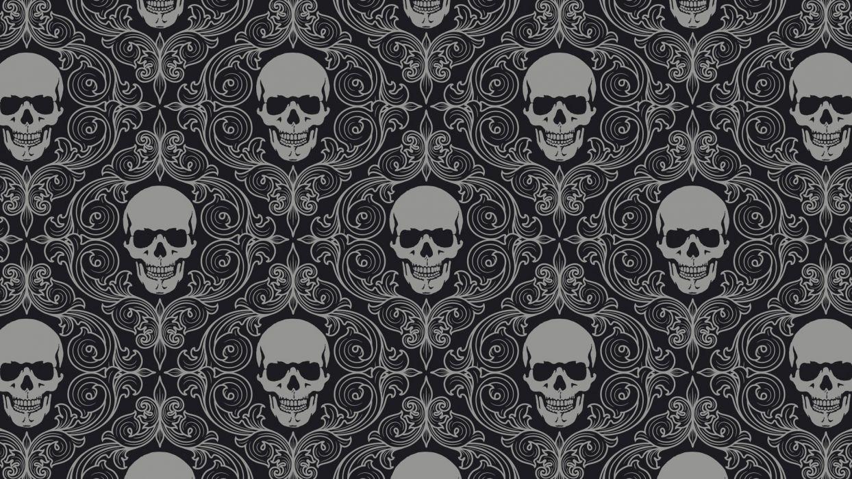 Artist Skull Tiles Background wallpaper