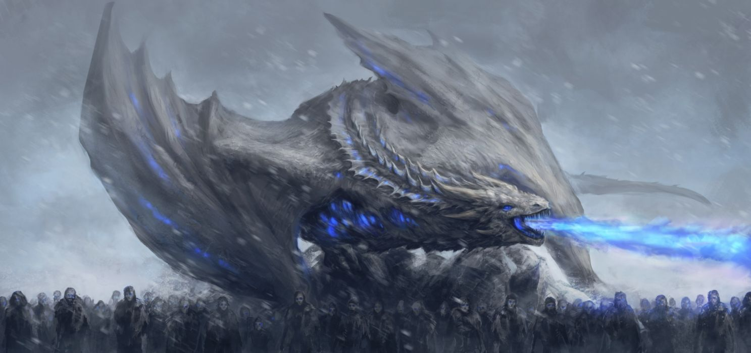 Tv Shows White Walkers Dragon Game Of Thrones wallpaper
