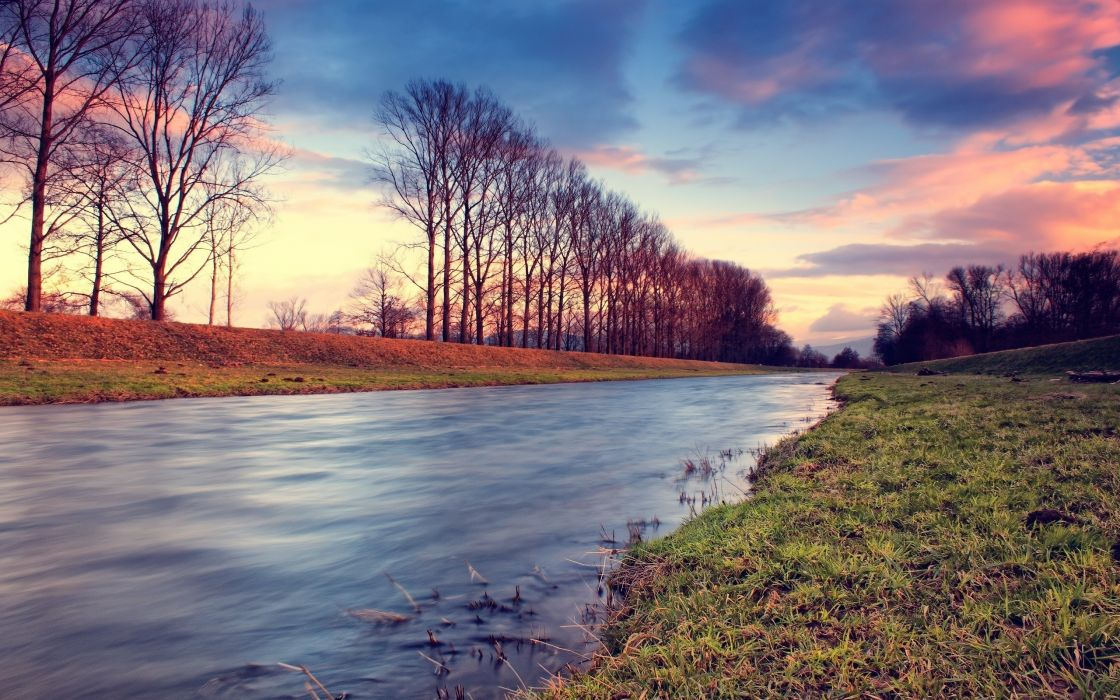 Nature Dreamy River wallpaper