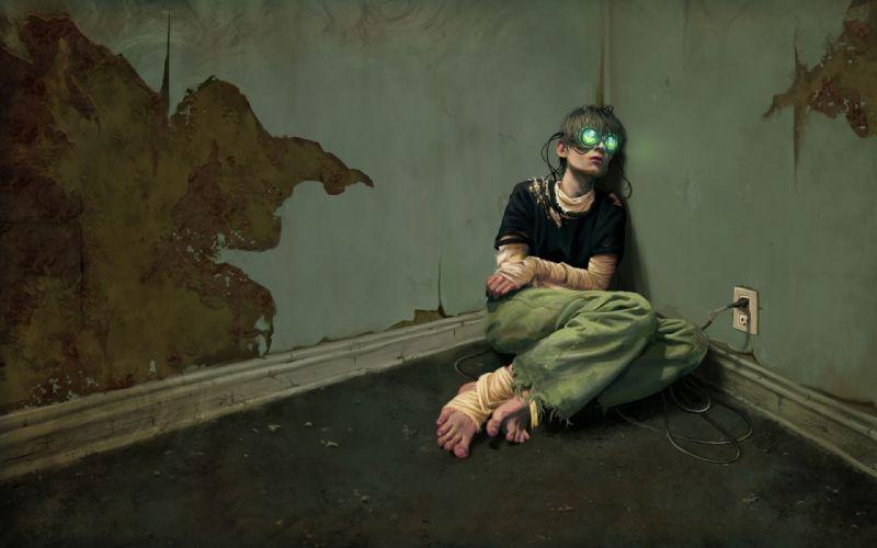 Artist Virtual Addict Scifi Cyborg wallpaper